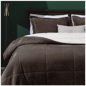 Micromink Sherpa Comforter Set 3 Reversible
